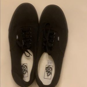 Men's black vans authentic